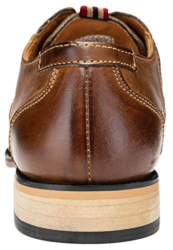 Pictures of JOUSEN Men's Oxford Retro Leather Formal Classic Oxford Dress Shoes 6
