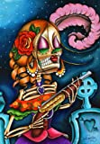 Bonita by Dave Sanchez Mexican Skeleton Lady Tattoo Artwork Canvas Art Print
