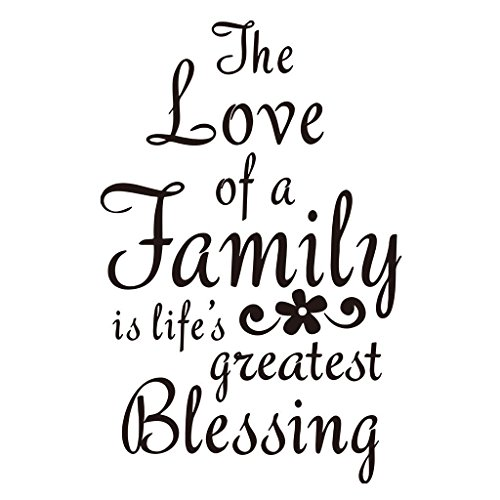CrazyWEN-Sticker-The Love A Family is Life's Greatest Blessing Bedroom Quote Decors Wall Saying Decals Quote Home Wall Stickers Nursery Room Decor