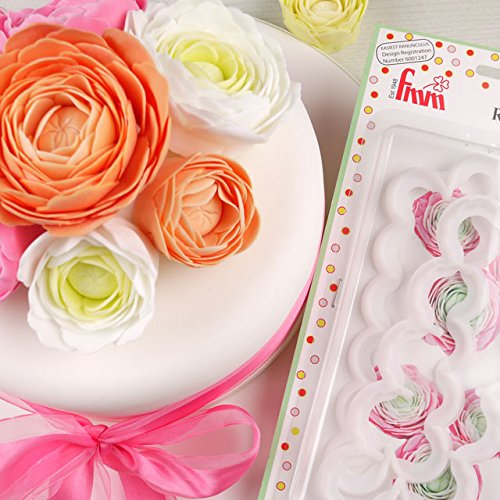 FMM The Easiest Ranunculus Ever Flower Cake Decoration Paste Icing Cutter Set