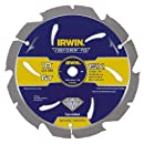 IRWIN Tools Fiber Cement PCD Circular Saw Blade, 10-Inch, 6T (4935624)