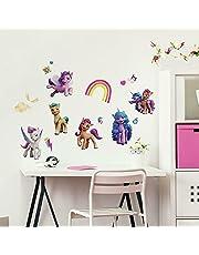 RoomMates RMK4968SCS My Little Pony Peel and Stick Decals, Pink, Orange, Blue