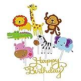 Jatidne 30pcs Jungle Animal Cupcake Toppers for Kids Party Decoration Baby Shower Birthday Safari...