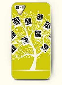 SevenArc Phone Case Design with Picture Frame Tree and Kissing Birds for Apple iPhone 5 5s 5g