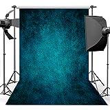 ANVOT Photography Backdrop, 5x7 ft Retro Art Blue Portrait Backdrop For Studio Props Photo Backdrop