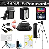 32GB Accessory Kit For Panasonic HC-V700, HC-V700M, HC-V500, HC-V500M, HC-V100, HC-V100M, HC-V10 Camcorder Includes 32GB High Speed SD Memory Card + Replacement (2000Mah) VW-VBK180 Battery + Ac/Dc Charger + Deluxe Case + 50 Tripod + Mini HDMI Cable +More