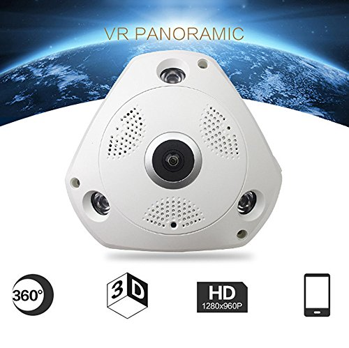 Price comparison product image Buybuybuy - 360° Panoramic Wireless Home Security Surveillance IP Camera Audio Video WiFi Remote Monitor with iOS Motion Tracker