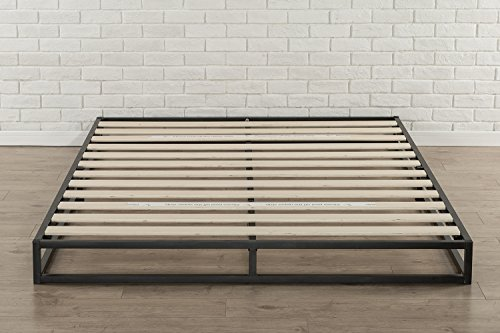 Zinus Joseph 6 Inch Metal Platforma Bed Frame / Mattress Foundation / Wood Slat Support / No Box Spring Needed / Sturdy Steel Structure, Full - 6 inch low profile foundation supports memory foam, Spring, and Hybrid mattresses Use with or without a box Spring to personalize your mattress Height, mattress sold separately Strong Steel frame structure with wood slats prevents sagging and increases mattress life - bedroom-furniture, bedroom, bed-frames - 51ewzYPu UL -