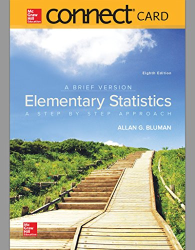 Connect Hosted by ALEKS Access Card 52 Weeks for Elementary Statistics: A Brief Version