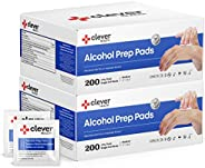 Alcohol Prep Pads, Medium 2-Ply - 400 Alcohol Wipes, Individually wrapped Swabs, Saturated With 70% v/v Isopro