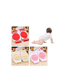 Luckystaryuan ® Black Friday Set of 3 Baby Knee Pad Girls Crawling Protector