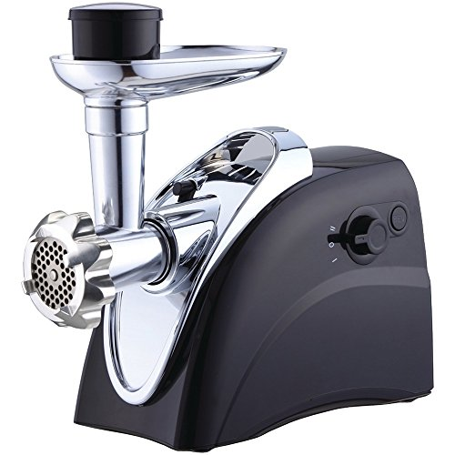 Brentwood Appliances MG-400BK Meat Grinder, Professional-Grade Grinder, Powerful 400 Watt Motor, Heavy Duty Stainless Steel Cutting Blades, Internal Circuit Breaker for Safety, Black (400w Food Grinder)