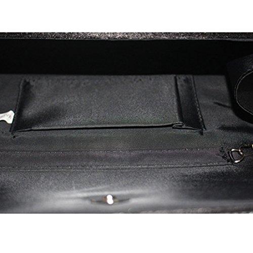 YYW Diamante Clutch Bag - Cartera de mano para mujer negro