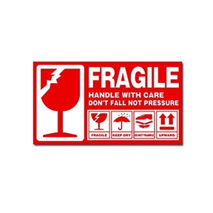 graphic relating to Printable Fragile Label identified as : Print Sticker - Package deal Postage Delicate Take care of