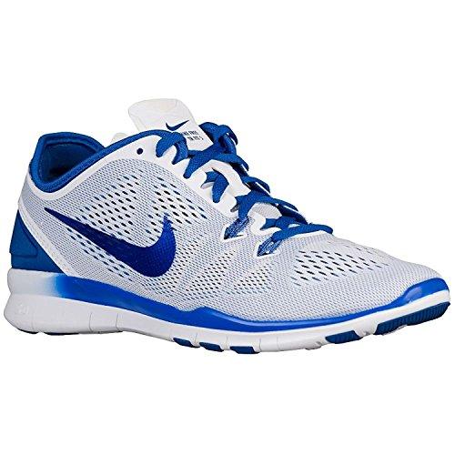 Nike Women's Free 5.0 Tr Fit 5 Prt Training Shoe Women US, blanc/jeu - bleu roi, 44 EU/9.5 UK