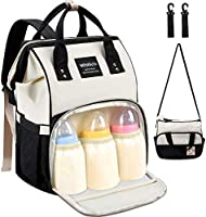 Diaper Bag Backpack - MOSFiATA 2 Stylish Multifuctional Waterproof Travel Backpack for Mom and Dad, Maternity Baby Diaper...