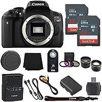 Canon EOS Rebel T6i 24.2MP Digital SLR Camera Body Only + 2 32GB Sandisk Ultra SD Cards + 8pc Accessory Bundle – International Version