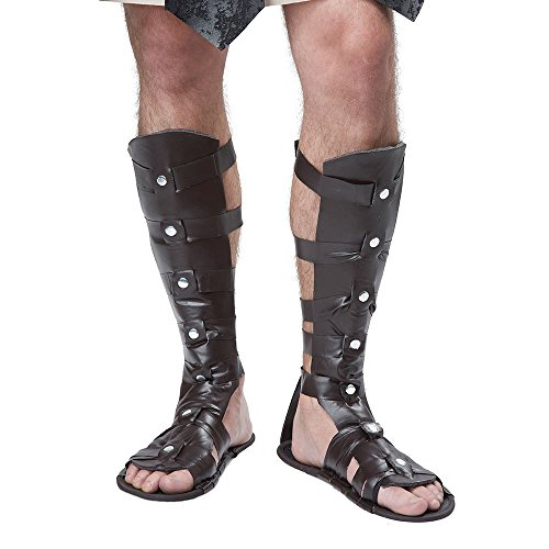 [California Costumes Men's Gladiator Sandal, Brown, One Size] (Mens Gladiator Costumes)
