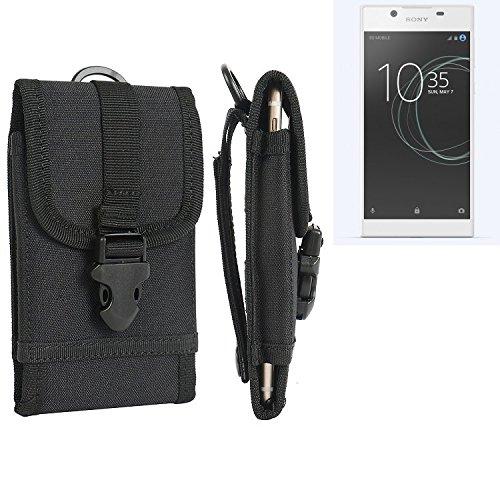 bolsa del cinturón / funda para Sony Xperia L1, negro | caja del teléfono cubierta protectora bolso - K-S-Trade (TM)