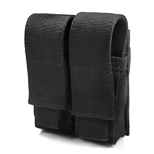 Tactical Pistol Mag Pouch (Double - Black) (Double Ammo Pouch)