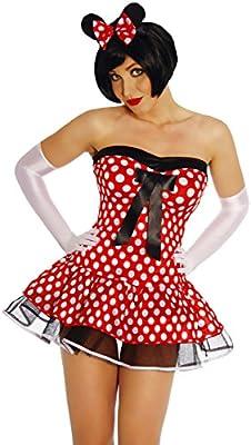 Disfraz de Minnie Mouse Minnie ratón Fasching Ratón Disfraz Mini ...