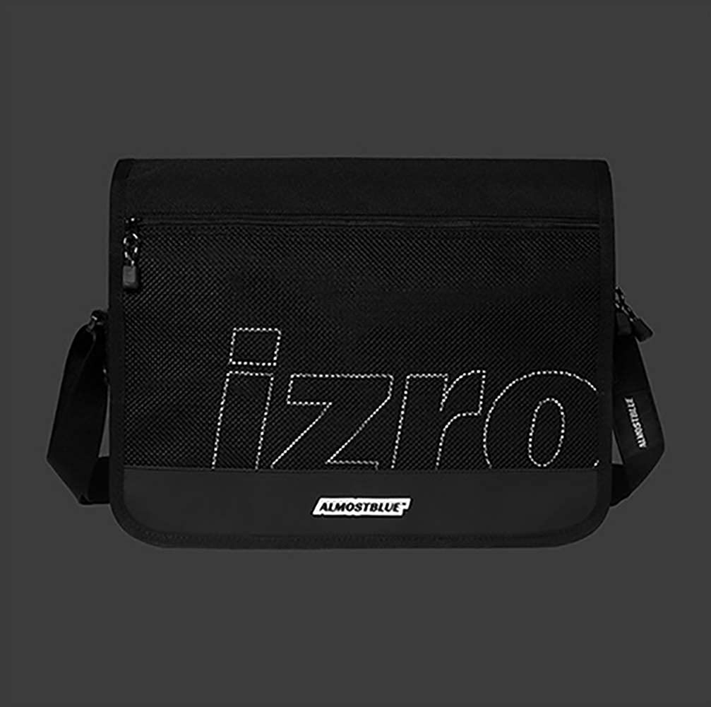 【ALMOSTBLUE】 ALMOSTBLUE X IZRO MESSEGER BAGメッセンジャーバッグ  SNSで人気♥韓国人気 B07QXQFYSM