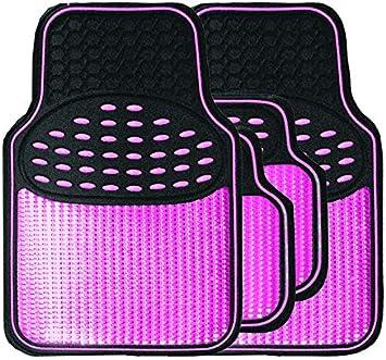 Color Rosa Juegos de Alfombrillas Streetwize SWTP7 Resistentes