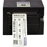 Citizen America CL-S400DTPAU-R-CU CL-S400 Series Direct Thermal Barcode Printer with Internal Power Supply, Cutter, Parallel and USB, 203 DPI Resolution, 120V, Black