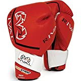 Rival High Performance Hook-and-Loop Sparring Gloves, Red, 16-Ounce