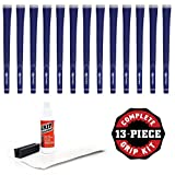 Karma Neion II Grip - Blue- 13 pc Golf Grip Kit (with Tape, Solvent, Vise Clamp)