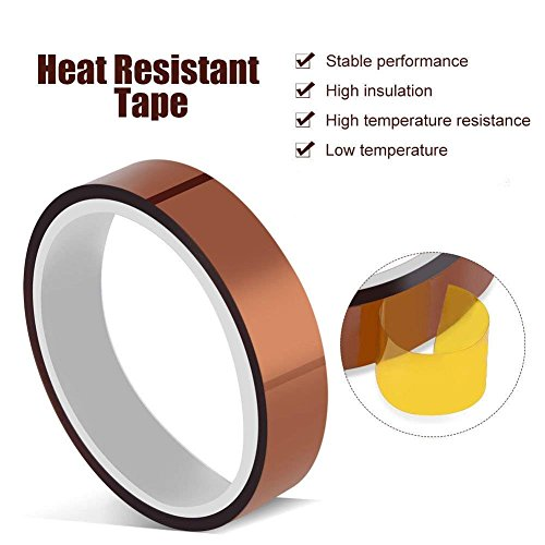 t Resistant Tape PI Film Insulation Tape Sublimation Dye Mug Electronic Polyimide Tape ()