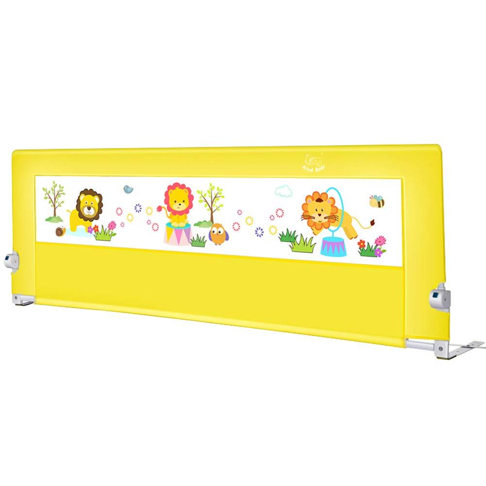 ベッドレール 高さ調節可能なベビーベッドの柵、高密度メッシュが付いている子供の安全な落下防止の枕元の監視、折るベッドの柵 (サイズ さいず : 2m) 2m  B07MFS2KRL