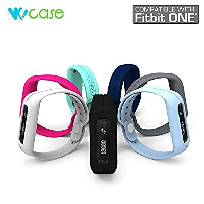 WoCase OneBand Fitbit One Accessory Wristband Bracelet Collection (2015 Lastest Version, Bundled or Single Band) and Rainbow Pack Fasteners(SOLD SEPARATELY) for Fitbit ONE Activity and Sleep Tracker (Turn Your Fitbit ONE into Wearable FLEX/FORCE/CHARGE, G