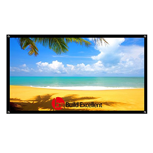 Build Excellent 60 Inch Projection Screen HD 16:9 Basic Projector Screen 1320×750mm Portable Indoor Outdoor 2 lbs Only by Build Excellent