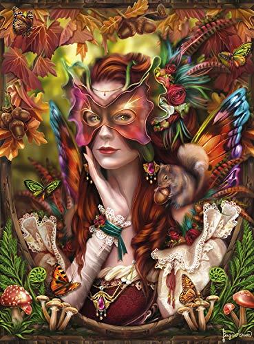 Buffalo Games - Flights of Fantasy - Autumn Queen (Glitter Edition) - 1000 Piece Jigsaw Puzzle