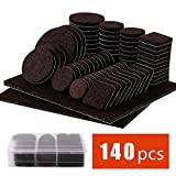 kitchen flooring ideas Felt Furniture Pads 140 Pcs - Self Adhesive Floor Protector Chair Pads Variety Pack - Wood Furniture Noise Reduction Bumpers & Protectors for Hardwood & Laminate Flooring