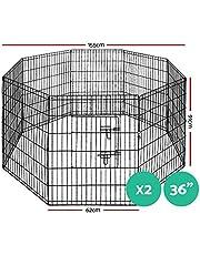 """i.Pet Pet Playpen 24""""-36"""" Pet Dog Cage 8 Panel Portable Dog Pen Rabbit Playpen Exercise Cage Fence Enclosure"""