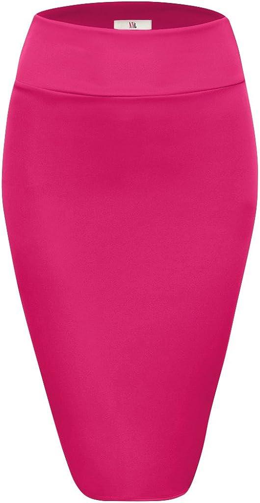 NYL Womens Below Knee High Waist Office Pencil Skirt
