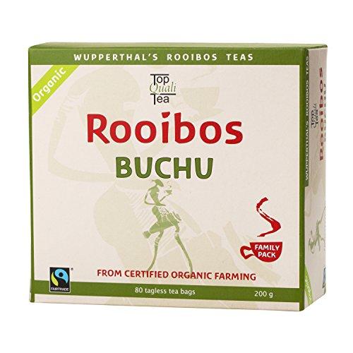 Buchu Rooibos Tea Bag |USDA Certified Organic | 100% Natural, Fair Trade, South African Herbal Beverage | 80 Teabags | Health Benefits | Caffeine Free, Gluten Free