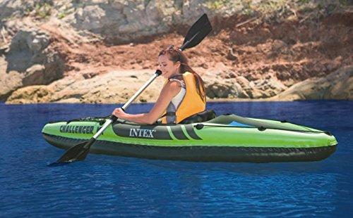 Water Sports Kayaking Deluxe Inflatable Kayak Set, Sporting Goods