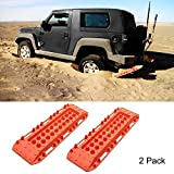 SINYSO Offroad Upgraded Tire Traction, Vehicle Survival Device Recovery Boards 4x4 Sand Mud Snow Escaper Traction Mat Tire Ladder, 10 Ton Load Capacity on Flat Ground [2 Pack]