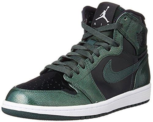 Nike Jordan Mens Air Jordan 1 Retro High Grove Green/Blac...