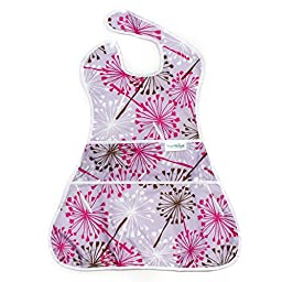 Bumkins Waterproof Supersized SuperBib, Purple Dandelion (6-24 Months)