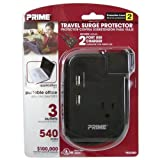 Prime Wire & Cable Travel Surge Protector, Model# PBTSUSB3 by Prime Wire and Cable, Inc
