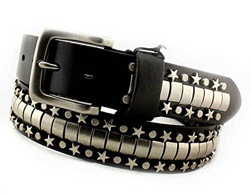 Men's Punk Biker Genuine Leather Belt W/ Metal Studded Rivet Hip Hop Style by vogueteen