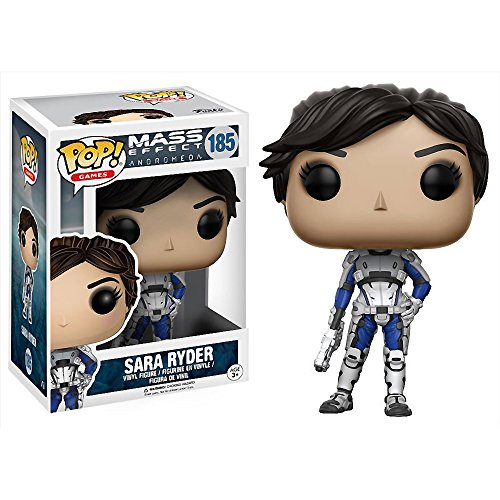 Funko Sara Ryder POP! Games x Mass Effect: Andromeda Vinyl Figure + 1 Free Video Games Themed Trading Card Bundle (12309)