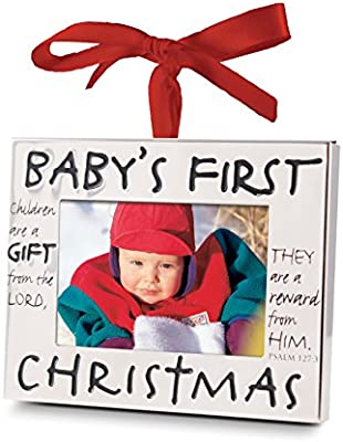 lcp gifts babys first christmas christmas ornament frame gift wred ribbon