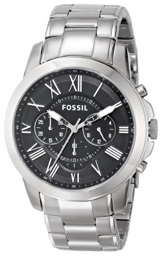 Fossil-Mens-FS4736-Grant-Stainless-Steel-Watch