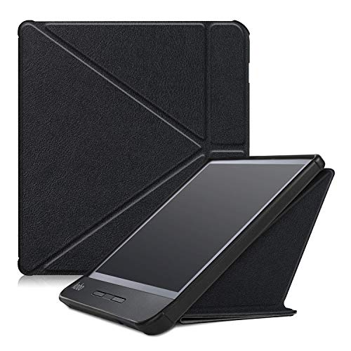 Gylint Kobo Libra H2O Origami Case, The Thinnest and Lightest Leather Smart Cover Case for New Kobo Libra H2O 2019 Release with Auto Wake Sleep Feature