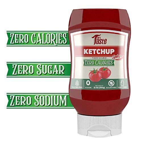 Sugar Free Spicy Ketchup, Zero Calories, Zero Sodium, Zero Sugar, High Fiber, Keto Friendly, Paleo Friendly, Condiments and Sauces (Spicy Ketchup)